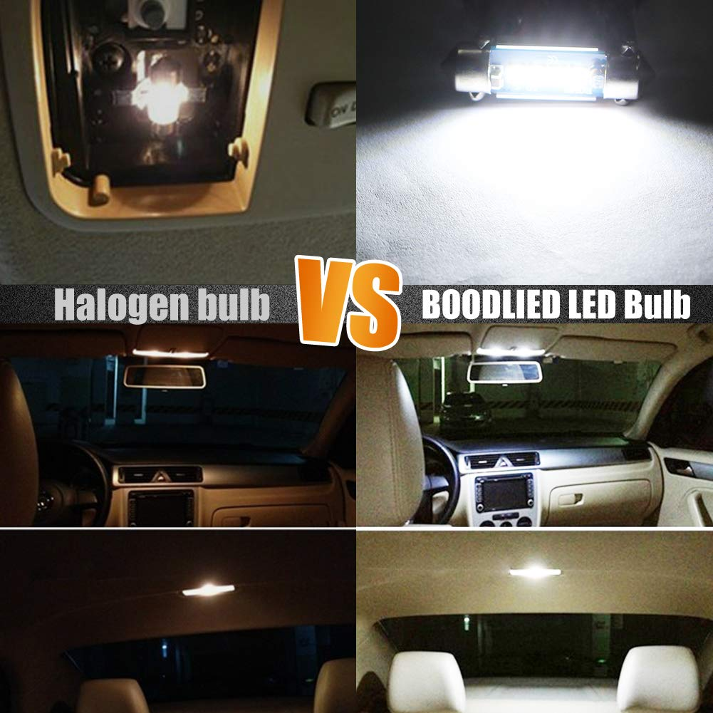 Boodled 4x Canbus No Error 31 mm Festoon 3030 Chips 3SMD C5W Dome Map Trunk Car LED Reading Light Bulbs Super 6000K~6500K White Error Free Pack in 4Pcs 4xSJ-3030-31mm 2017