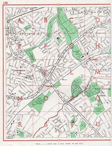 Amazoncom SURBITON New Malden Tolworth Malden Worcester Park