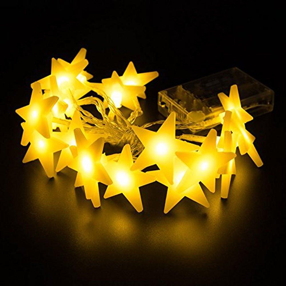 LED Lichterkette 3M 30er LED Kinderzimmer Schlafzimmer Deko Licht Batteriebetrieben Lichterketten Warmweiß CHAOBEITE