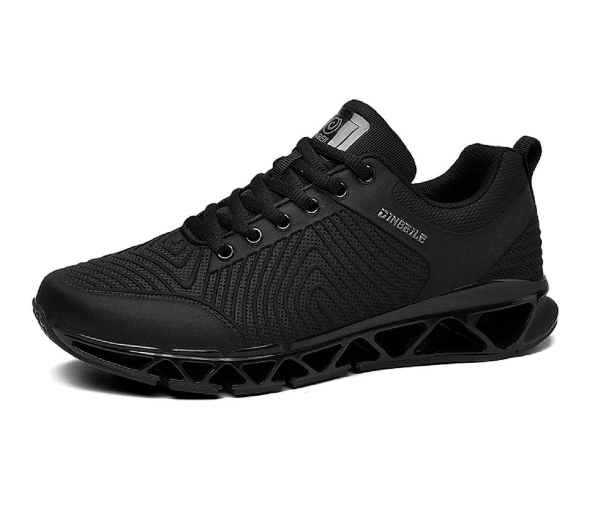 Santimon Zapato Seguridad Hombres Ultra Ligero Ocio Al Aire Libre Sendero Corredor Anti Choque Aptitud Deportes Moda Zapatos Para Caminar 42 EU|Negro