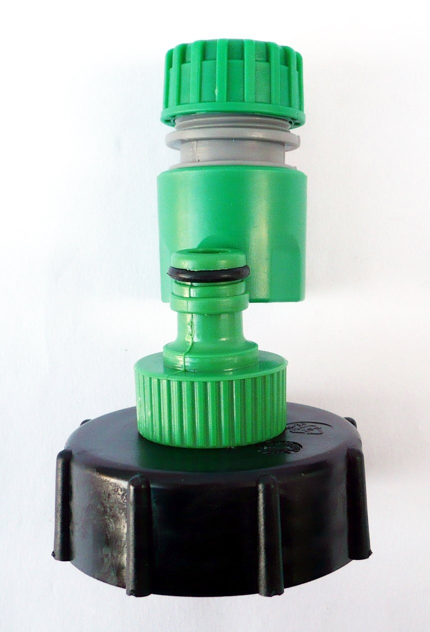 """IBC ADAPTER to 1//2/""""  Snap on Push Fit Garden Hose Connector c//w Female Connector"""