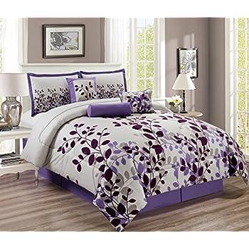 Amazon.com: Bed-in-a-bag Juego de cama con cobertor, bordado ...