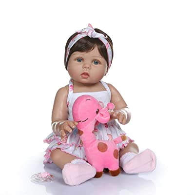 TERABITHIA 18inch 47cm Real Life Soft Silicone Vinyl Full Body Reborn Baby Girl Dolls in Tan Skin Preemie Washable Newborn Doll Look Real: Toys & Games