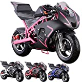 gas bike - Pocket Bike Mini Motorcycle 4 Stroke Gas Power (PINK)