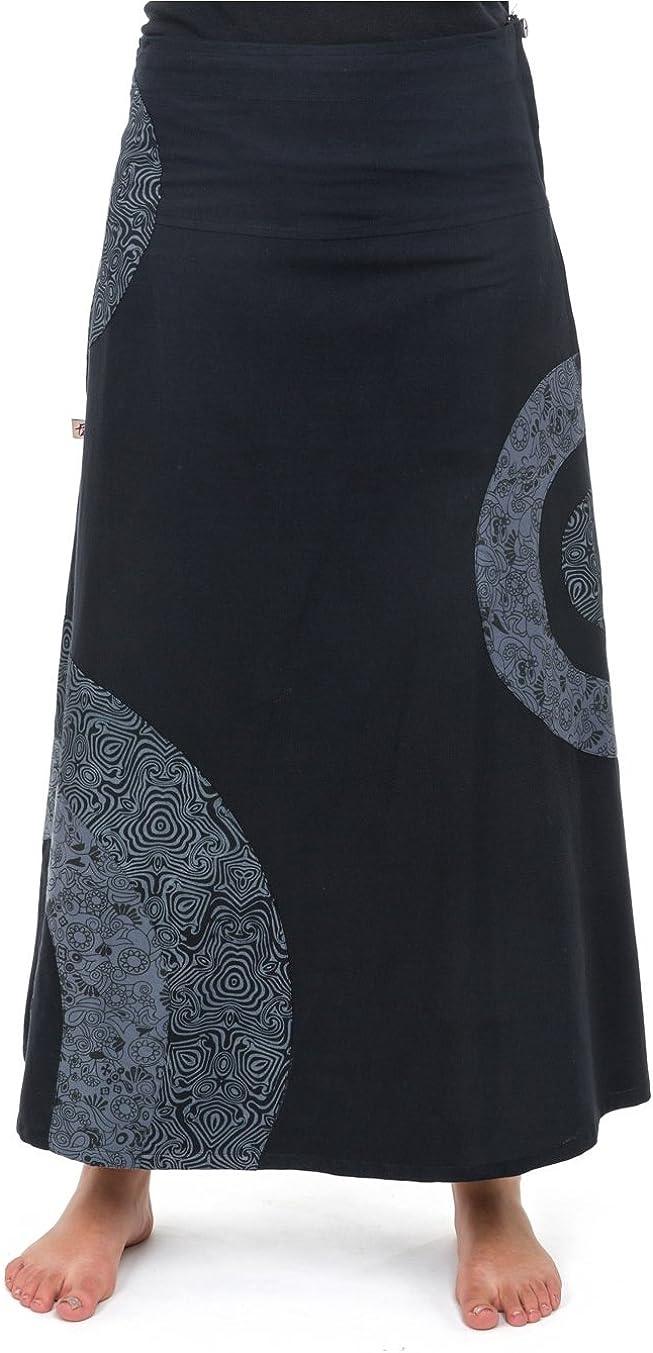 Falda larga étnica negro 46 : Amazon.es: Ropa y accesorios