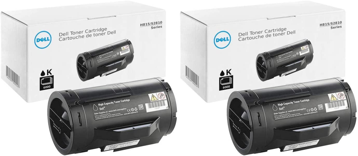 Dell 47GMH High Yield Black Toner Cartridge 2-Pack for H815DW, S2810DN, S2815DN Laser Printers