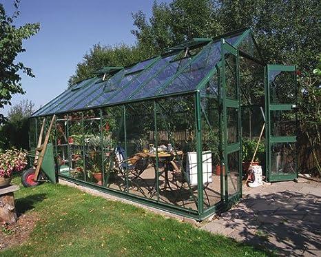 Eden salas studyingstore Eden Monarch invernaderos 609, 6 cm - verde invernadero grande: vidrio - 3 mm vidrio hortícola: Amazon.es: Jardín