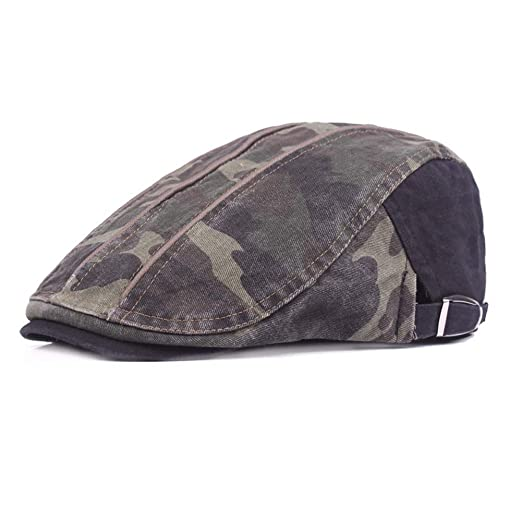 51d8be839ad Image Unavailable. Image not available for. Color  Richea Cotton Newsboy  Beret Flat Cap Ivy Gatsby Cabbie ...