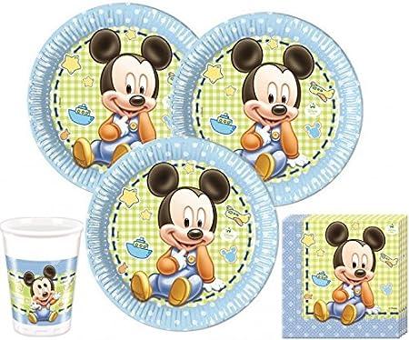 52 piezas de Mickey Mouse de Disney para fiesta de la decoración de Juego de accesorios para 16 personas