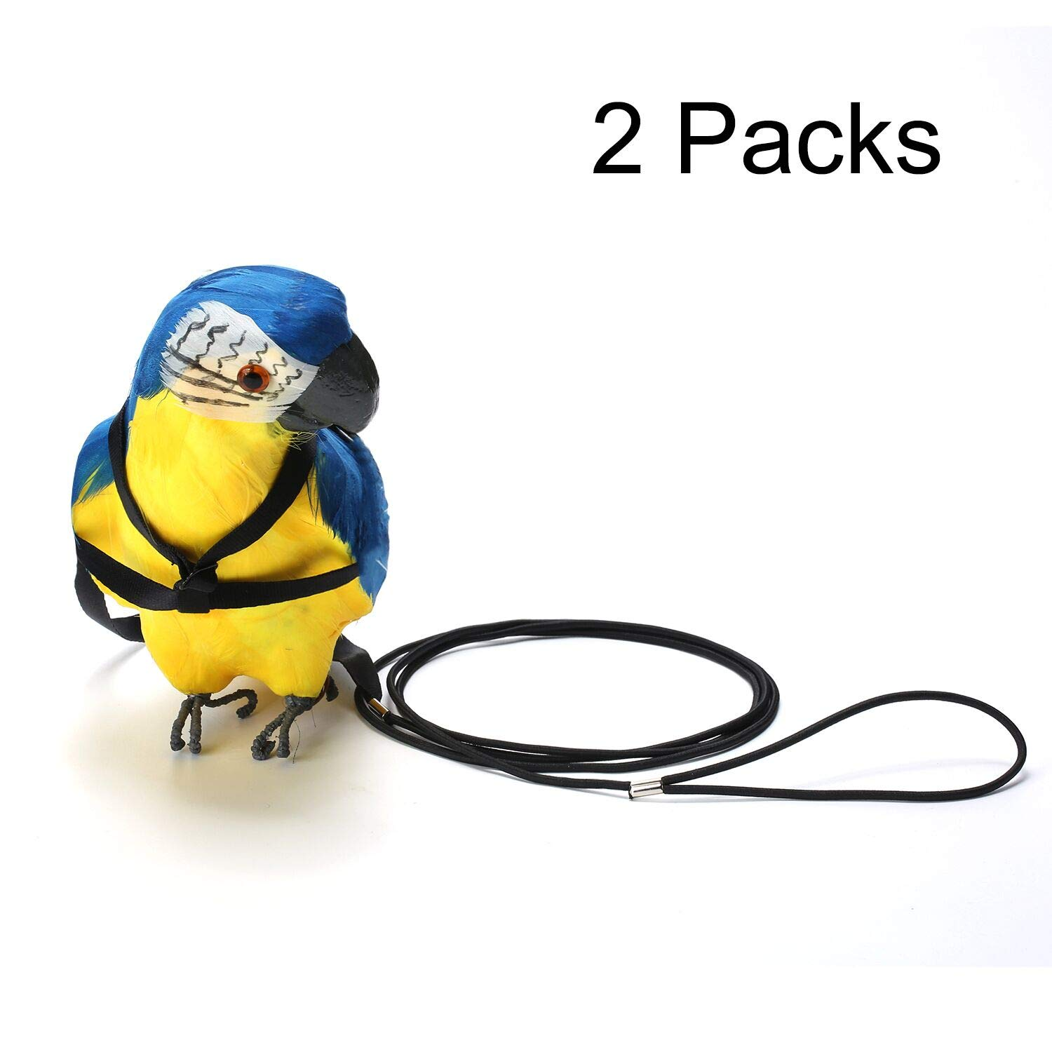 Adjustable Parrot Bird Harness Leash - VIPpet Anti-Bite Training Rope Outdoor Flying Harness And Leash