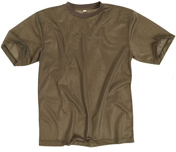 2a57ac1e034a Mens Coyote Tan US Tactical Military Army Mesh T-Shirt - Breathable ...