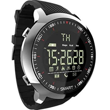 FRWPE Smart Watch Men Sport LCD podómetros Impermeables ...