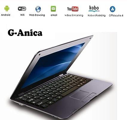 G-Anica Netbook Ordenador portátil 10 Pulgadas Android 5.0 (WiFi, 1.5GHz 1GB