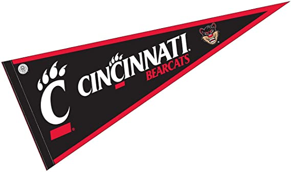Amazon Com College Flags Banners Co University Of Cincinnati Pennant Full Size Felt Sports Outdoors