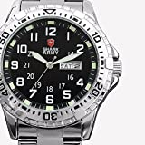 Mix&Rock Shark Army Luminous Mark Date Day Display Military Sport Steel Band Watch