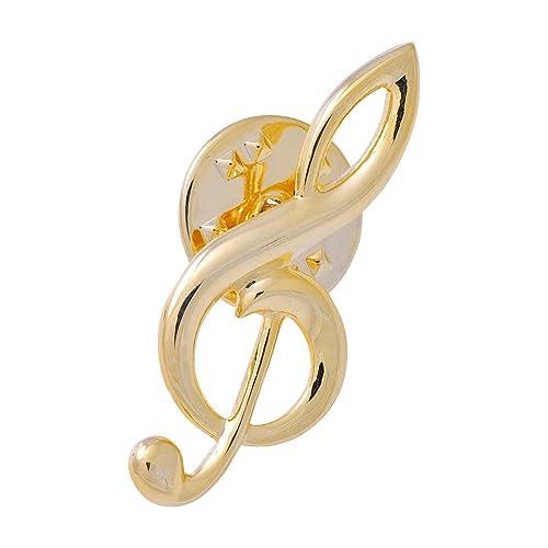 Anstecker Violinschlüssel / Notenschlüssel groß – Schönes Geschenk für Musiker mit Geschenkverpackung