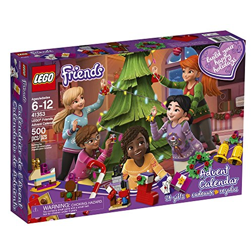61qvFDOLv0L - LEGO Friends Advent Calendar 41353, New 2018 Edition, Small Building Toys, Christmas Countdown Calendar for Kids (500 Pieces)