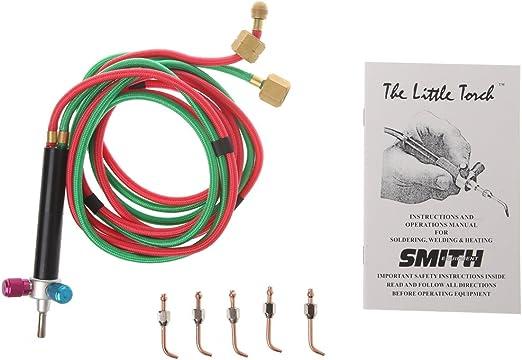 Acetylene Welding Torch Gun 5 Tips Kit Welder Gas Oxygen Butane Soldering