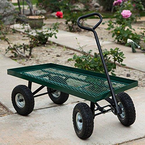 Nursery Wagon Garden Cart (XtremepowerUS 38 x 20 All-Terrain Nursery Farm Garden Yard Jumbo Cart Wagon 1000 lbs Load)