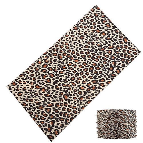 Leopard Print Outdoor Sport Magic Tube Scarf Cycling Neck Warmer Multifunction