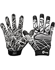 Cutters Game Day Football Glove, Silicone Grip Receiver Glove. Youth & Adult Sizes (1 Pair) YOUTH: Small