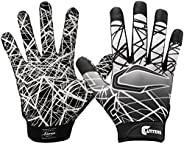 Cutters Youth or Adult Game Day Football Receiver Gloves with Super Sticky Grip