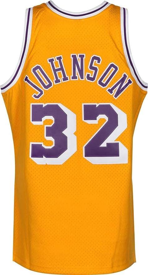 FMSports Camisetas De Baloncesto Retro para Hombres - NBA Lakers # 32 Earvin Johnson Uniforme De Baloncesto Tela Transpirable Fresca Camiseta Clásica De Chaleco,XL~180cm/85~95kg: Amazon.es: Hogar
