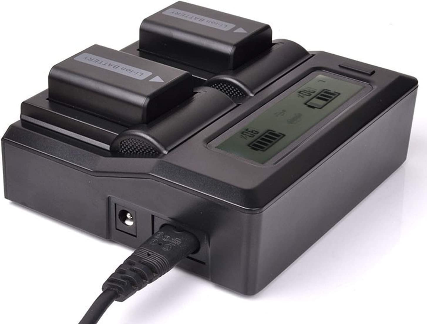 LCD Dual Fast Battery Charger for Sony CCD-TRV428 CCD-TRV428E CCD-TRV438E Handycam Camcorder CCD-TRV438