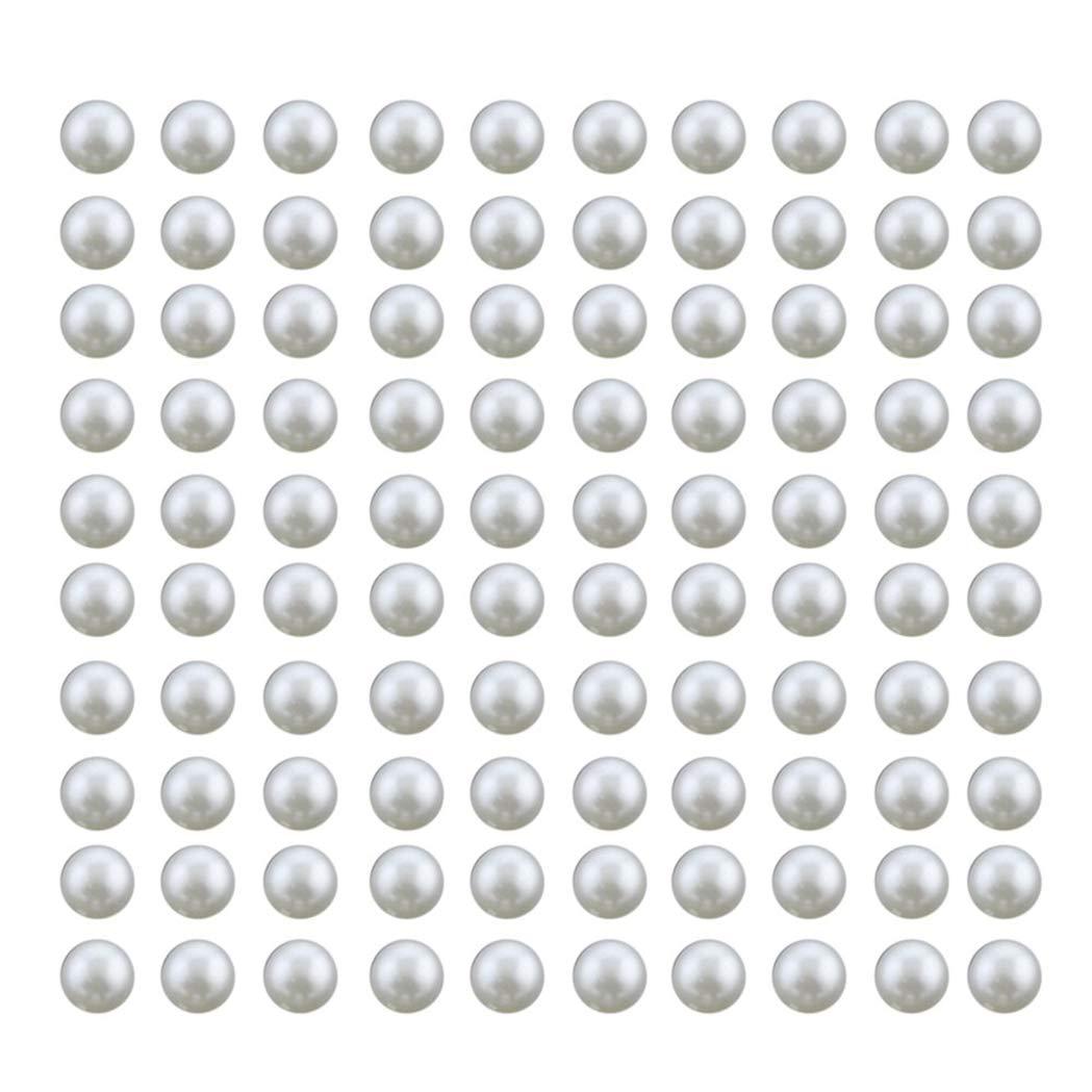 Morning May Lot de 100 Rivets de Perles Blanches Rivets cr/éatif pour v/êtements d/écoration de Bricolage et Rivets 8 mm