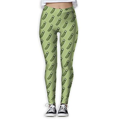 Ancharpin Women's Girl Cutel Gherkin Pickles High Waist Casual Leggings Tights Yoga Pants Running Pants Stretchy Sport Pilates Workout Long Sportswear