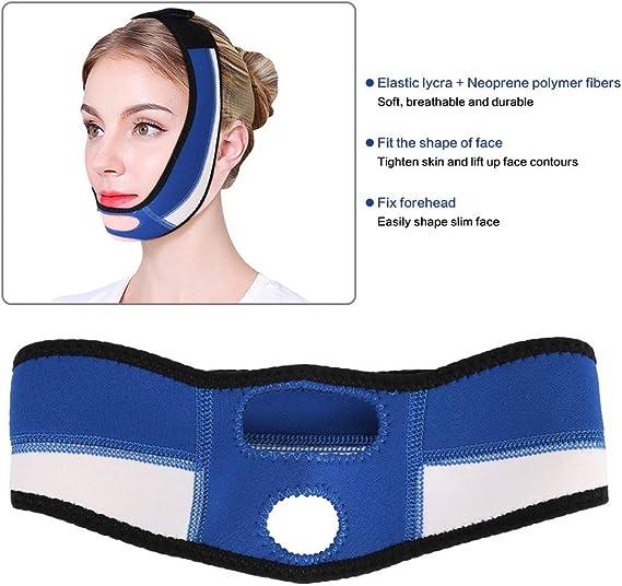 Máscara de corrección facial, Levante apriete la venda correctora ...