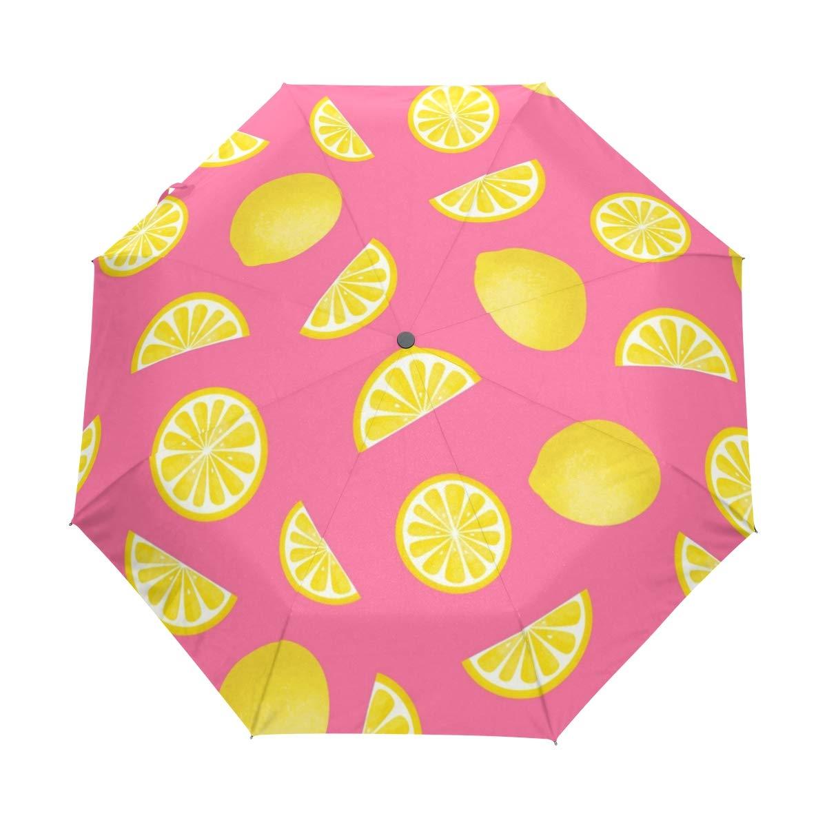 8e7d826b15fd Amazon.com: HLive Travel Umbrella Lemon Fruit Auto Open Compact ...