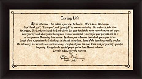 Attrayant Living Life By Bonnie Mohr Life Is Not A Race But Indeed A Journey Framed  Art