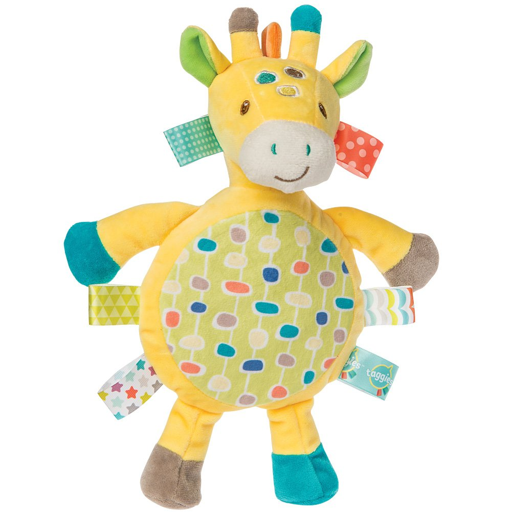 Giraffe Taggies Crinkle Toy - Silky Ribbon Outside Crinkly Inside