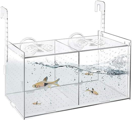 Flexible Fish Isolation Box with Suction Cups Biolife Fish Breeding Box Aquarium Acclimation Hatchery Incubator for Baby Fishes Shrimp Clownfish and Guppy