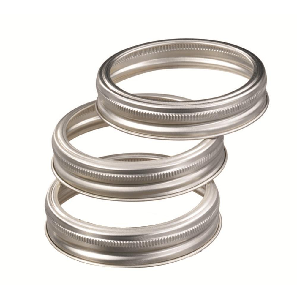 Leifheit Deckel für Gläser Ersatzdeckel 12 Stück Metall 36400