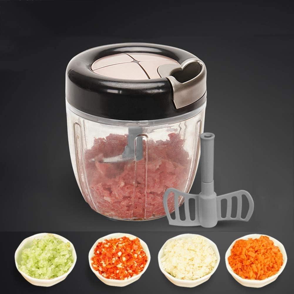 ZYLBDNB Trituradora de Alimentos, 900 ml, trituradora de Verduras, Mini trituradora práctica, marrón: Amazon.es