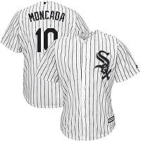 GMRZ Camiseta MLB, Manga Corta con Chicago White Sox # 10 Moncada Diseño Logo Ropa Deportiva Equipo Béisbol De Grandes…