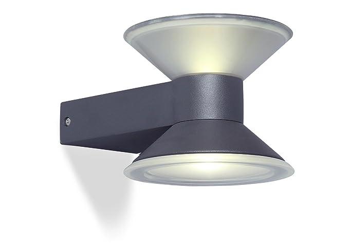 Eco light moderna lampada a parete per esterni cone due luci up e