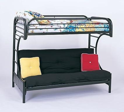 Amazon.com: Coaster Twin/Futon Bunk Bed, High Gloss Black: Kitchen
