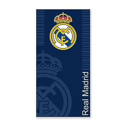 Real Madrid C.F. Toallas de Playa Escudo Azul 100 x 170: Amazon.es: Hogar