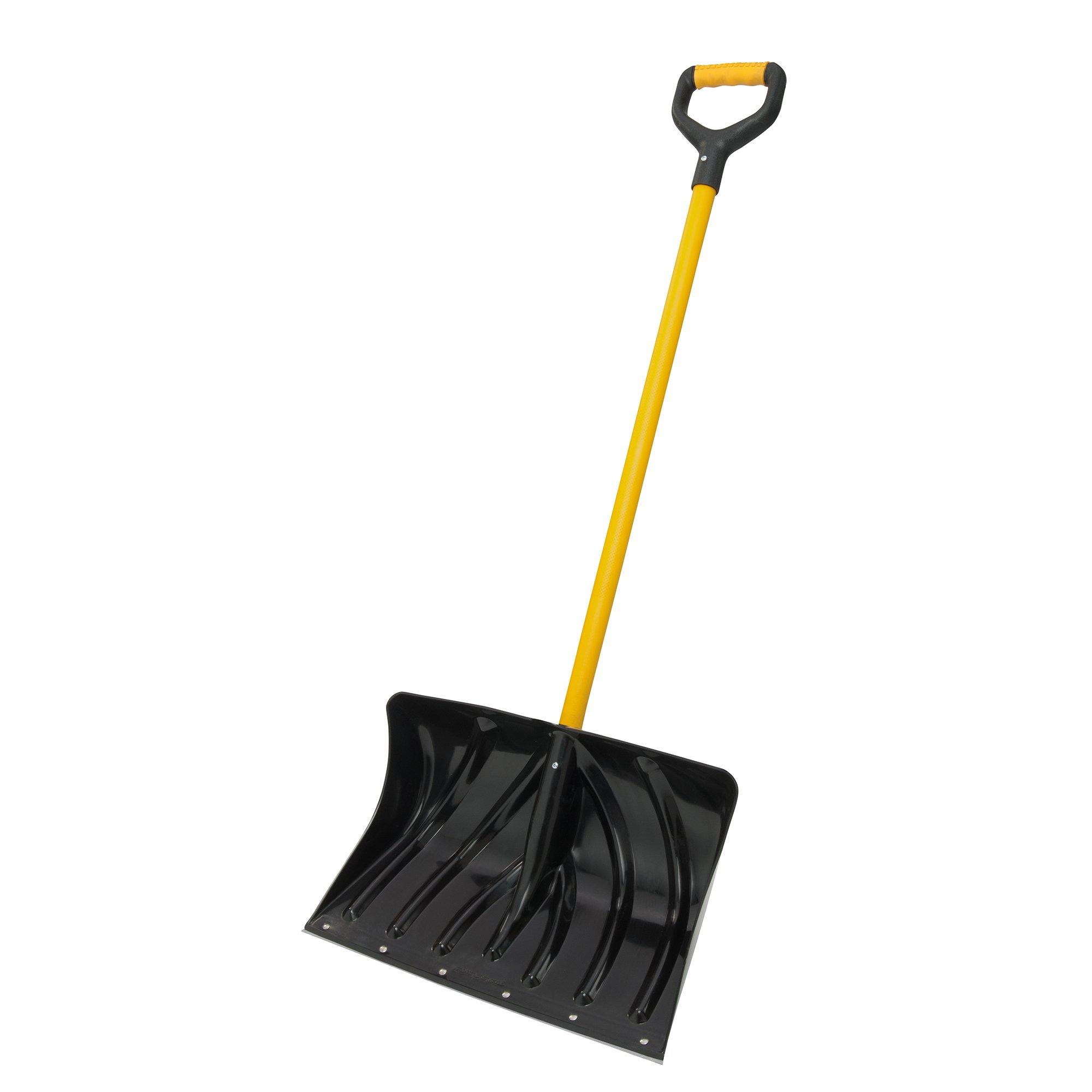Suncast SCF2950 20-Inch Snow Shovel/Pusher Combo with Fiberglass D-Grip Handle And Wear Strip by Suncast