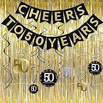 Amazon.com: Kit de decoración para fiesta de 50 años ...