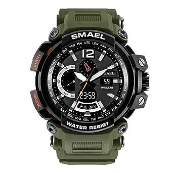 Relojes digitales agradables con segunda mano para hombres Relojes deportivos para hombres gris: Amazon.es: Relojes