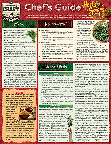 Chef's Guide to Herbs & Spices: a QuickStudy Laminated Reference Guide (Quickstudy Reference Guide) by Chef Jay Weinstein