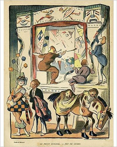 10x8 Print of Cartoon, The Little Guignol, Game of Cubes (14342252)