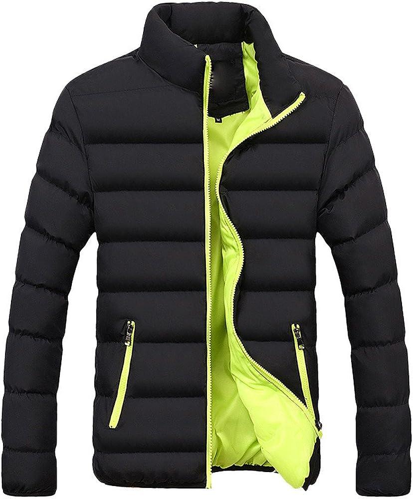 Mens Down Coat,Winter Warm Slim Fit Thick Bubble Casual Jacket Plus Size Parka Outerwear