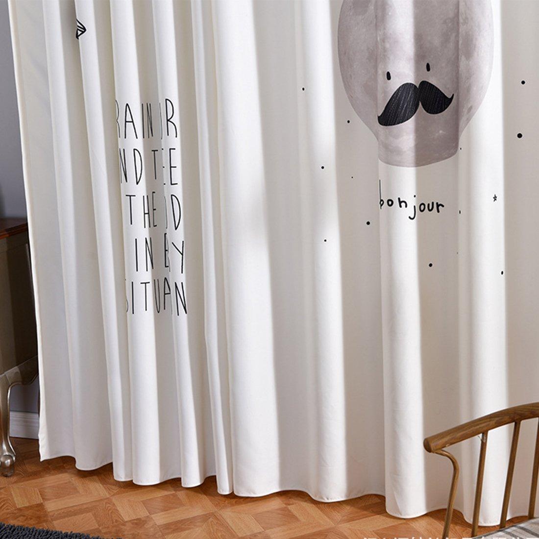 linker Schal nur GWELL Kinderzimmer Gardinen Vorhang Baumwolle und Leinen /Ösenschal Dekoschal f/ür Wohnzimmer Schlafzimmer 225x140cm HxB Motiv-1 1er-Pack