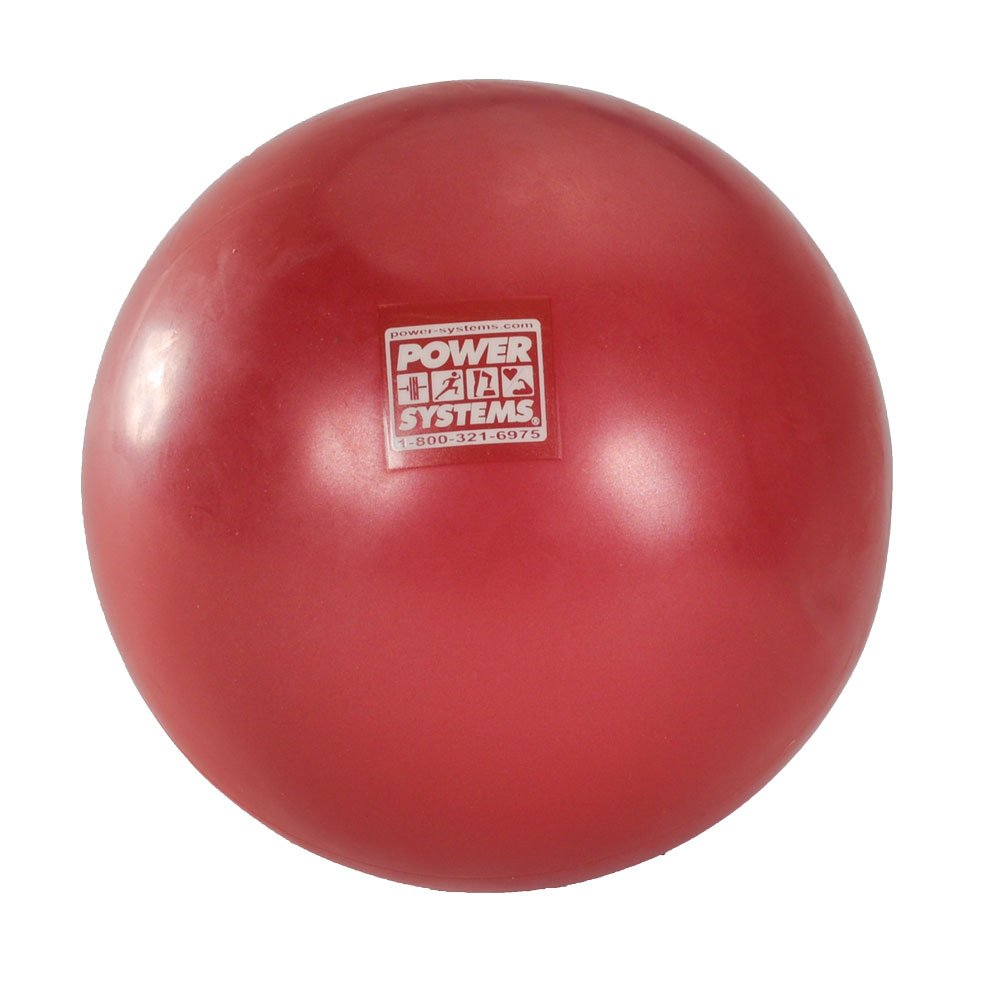 Power Systems Myo-Therapy Ball for Myofascial Release Therapy, 6-Inch Ball, Red (80683)
