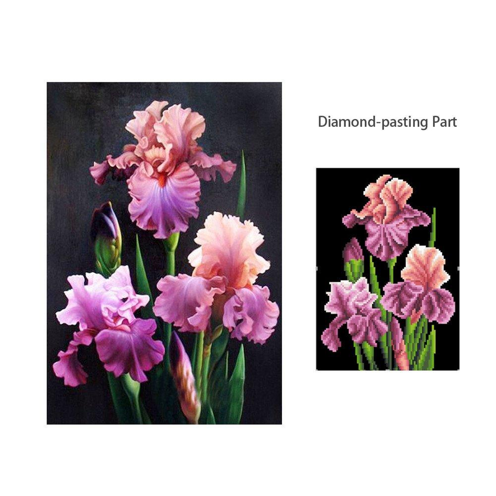 fiori decorazione fai da te per la casa Flower AIHOME Kit quadro con strass motivo